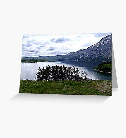 MIddle Waterton Lake Greeting Card
