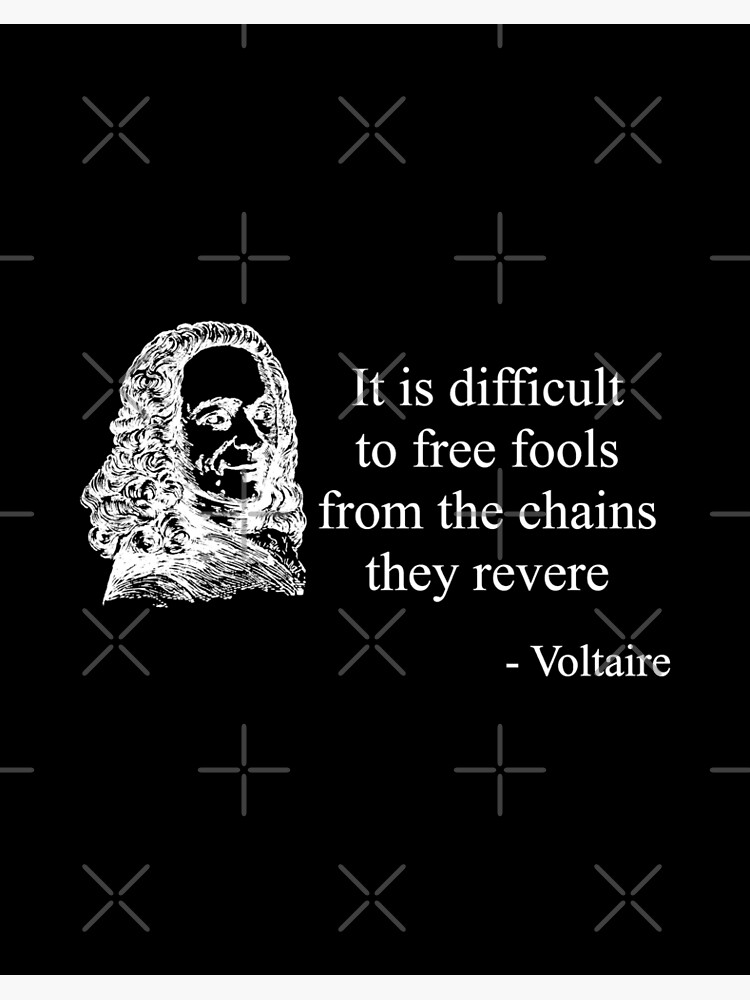 Voltaire Quote White Art Board Print By Thelaststand Redbubble