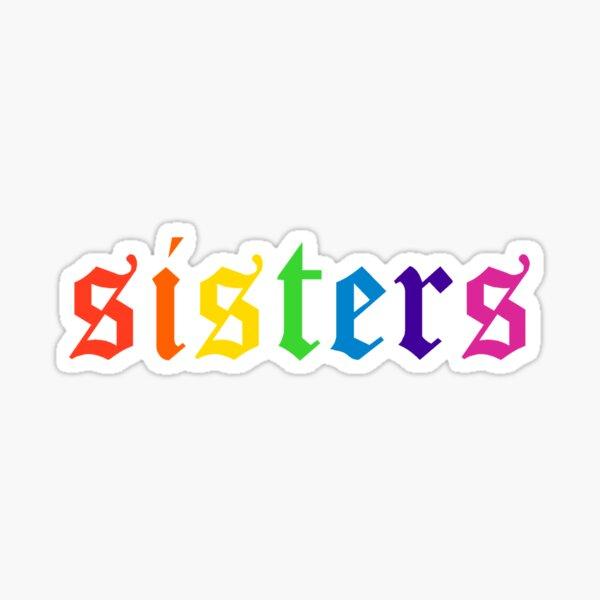 Rainbow Sisters Logo Sticker