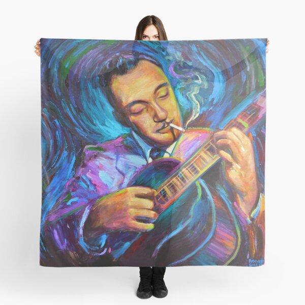 Django Reinhardt Gypsy Jazz Guitarist by Robert Phelps Scarf