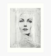 Stoned Portraet Art Print