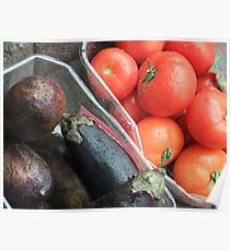 Eggplant and Tomatoes Poster