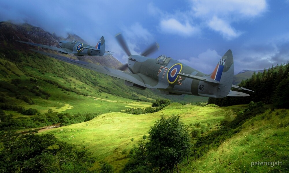 spitfire through the glen by peter wyatt