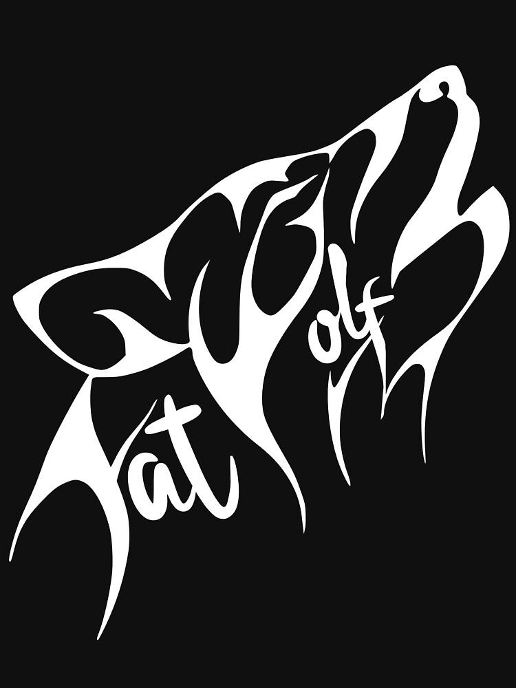 Fat Wolf - Stylised White by danbadgeruk