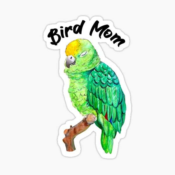 Parrot Bird Mom Sticker