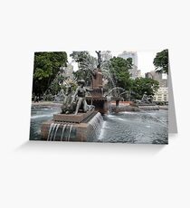 Fountain in Sydney's Hyde Park Greeting Card