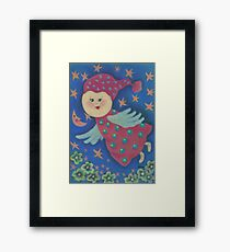 Angel. Flying cute angel for good dreams and happiness. :) Framed Print