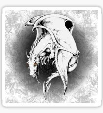 Dragon Mythical Creature Pixel Digital Art  Glossy Sticker