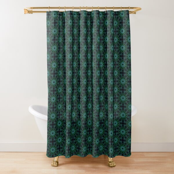 Connections Green Shower Curtain