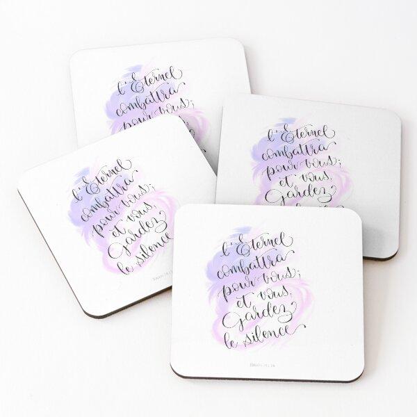 Exodus 14:14 Coasters (Set of 4)