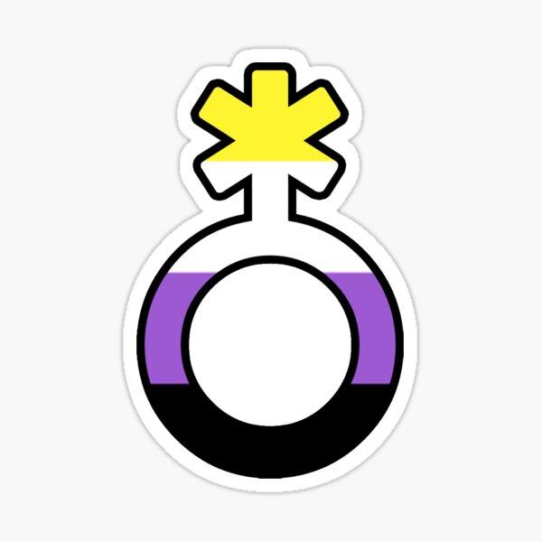 Símbolo no binario Pegatina