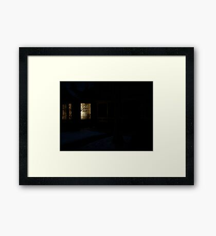 Home in Winter Framed Print
