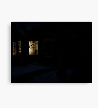 Home in Winter Canvas Print
