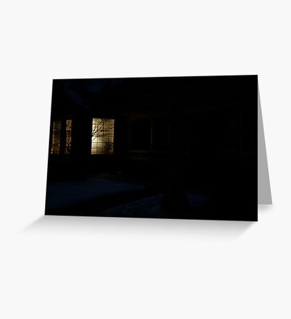 Home in Winter Greeting Card
