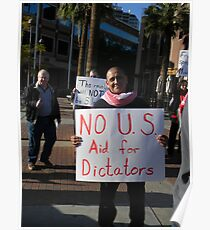 """No US Aid for Dictators"" Poster"