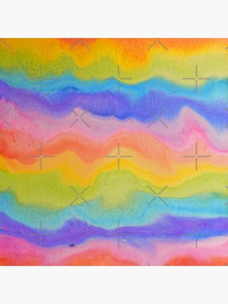 rainbow abstract, melt / rainbow paint splurge by MagentaRose