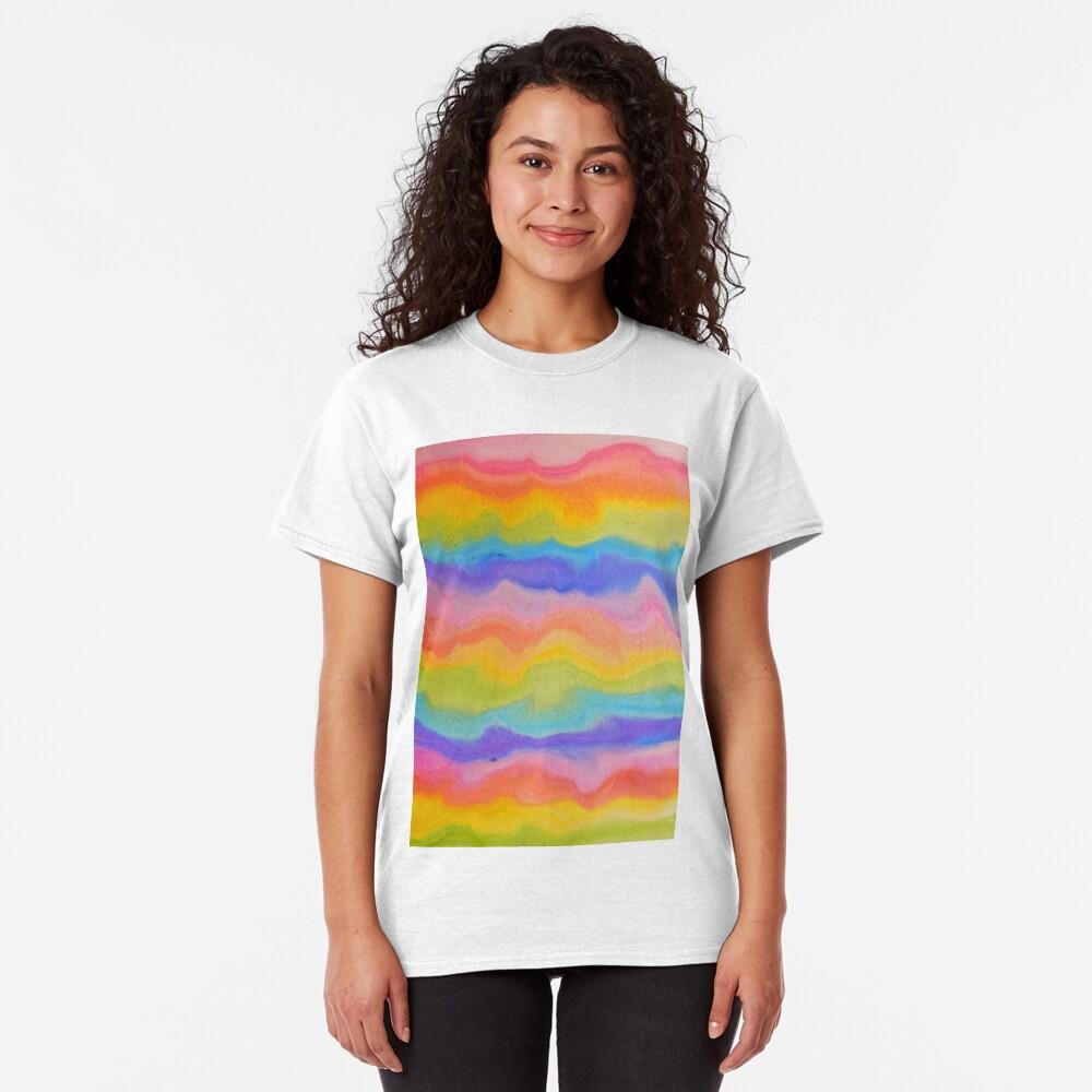 rainbow abstract, melt / rainbow paint splurge Classic T-Shirt