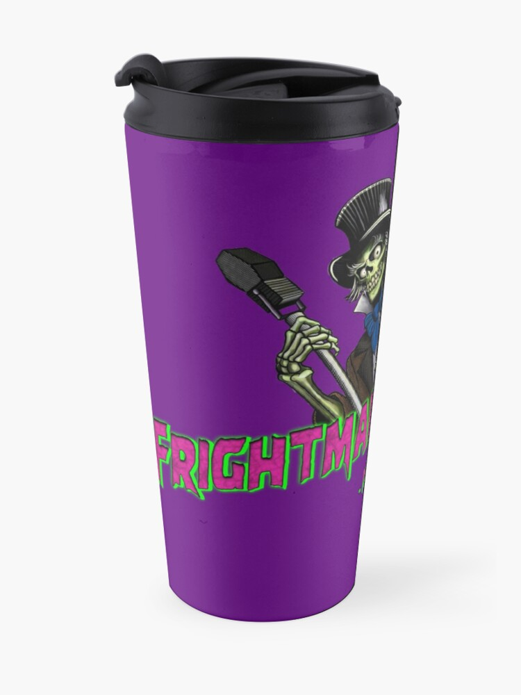Alternate view of Official FRIGHTMARE THEATRE PODCAST LOGO Travel Mug