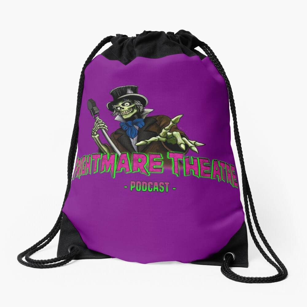 Official FRIGHTMARE THEATRE PODCAST LOGO Drawstring Bag