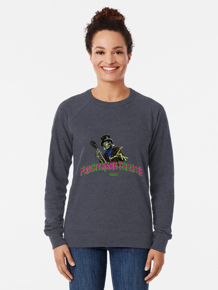 Alternate view of Official FRIGHTMARE THEATRE PODCAST LOGO Lightweight Sweatshirt