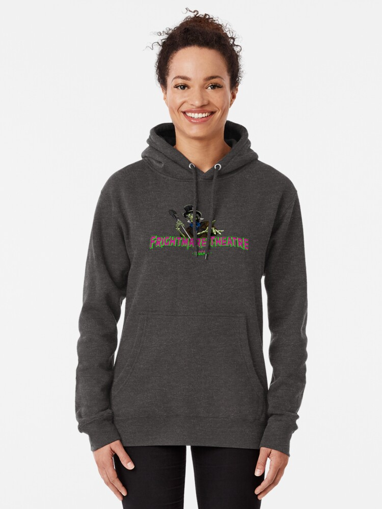Alternate view of Official FRIGHTMARE THEATRE PODCAST LOGO Pullover Hoodie