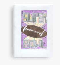Super Bowl Football Canvas Print