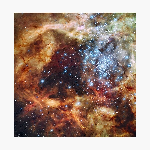 269. Star Cluster R136 Bursts Out  Photographic Print