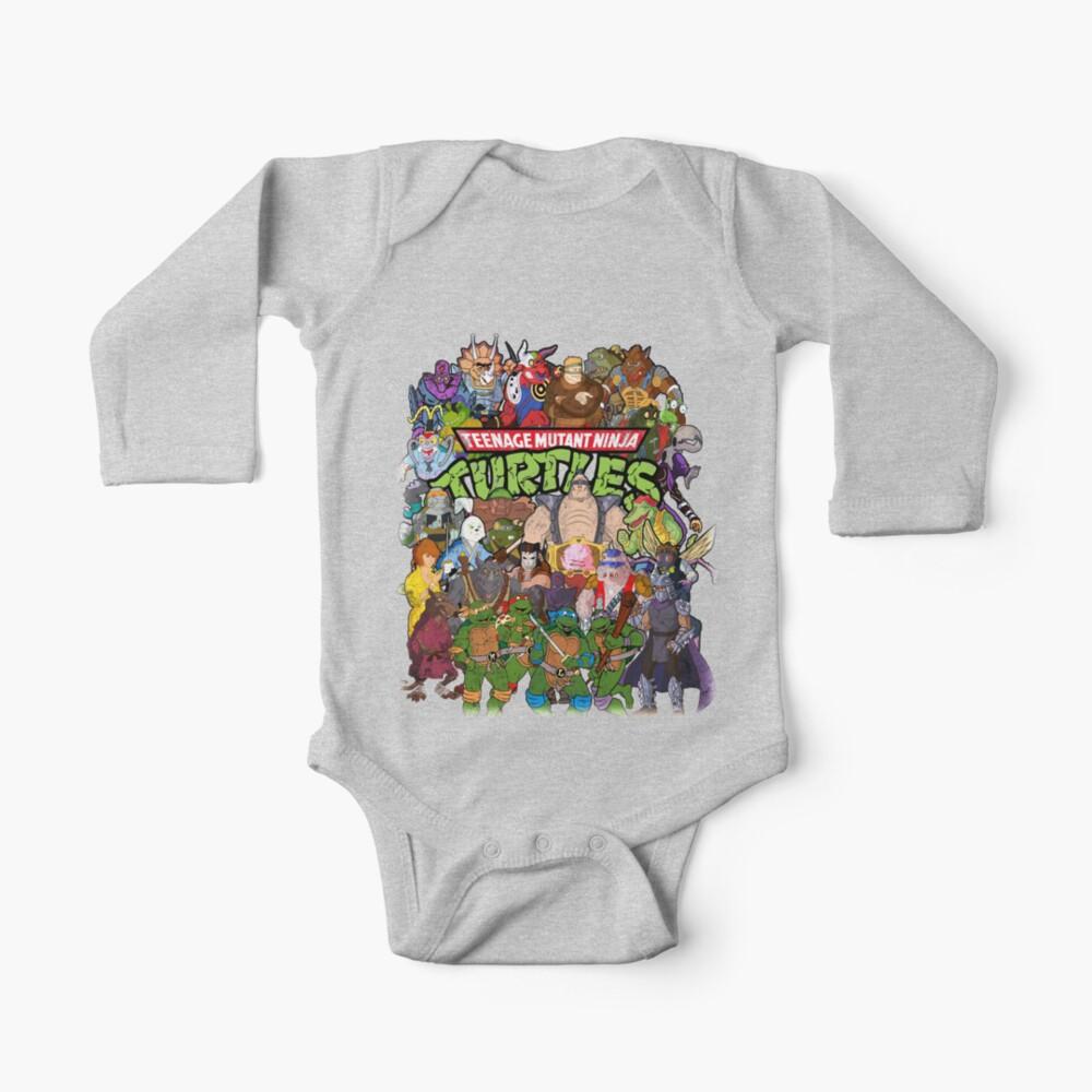 80s Ninja Turtles Galore! Baby One-Piece