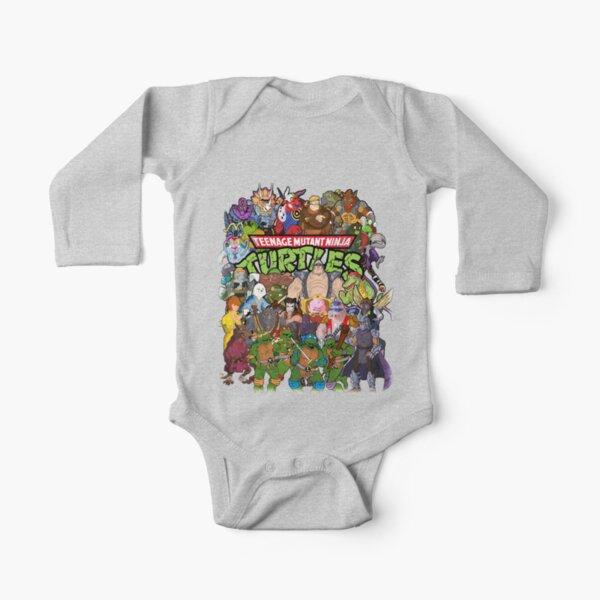 80s Ninja Turtles Galore! Long Sleeve Baby One-Piece