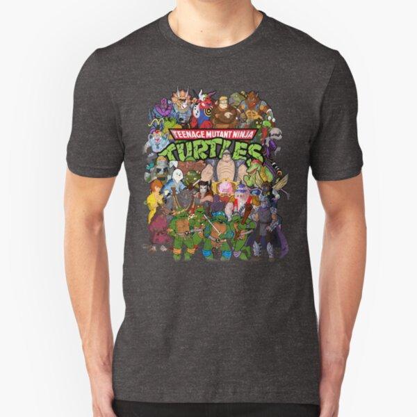 80s Ninja Turtles Galore! Slim Fit T-Shirt
