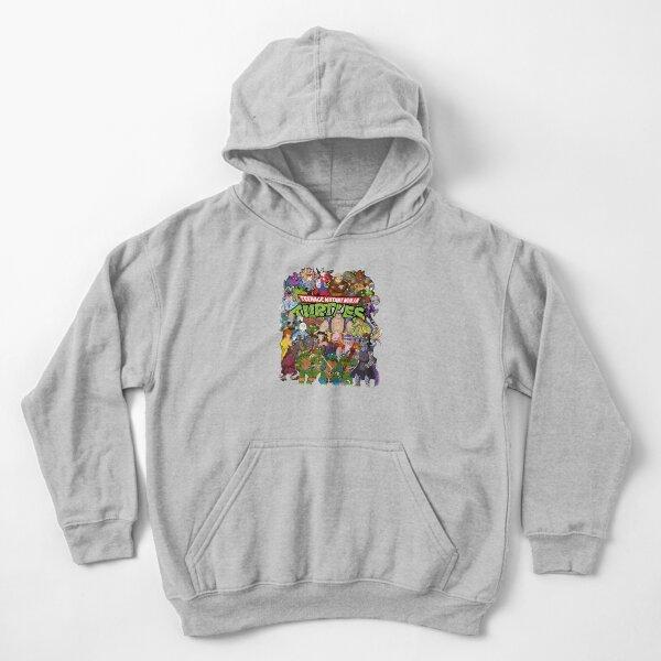 80s Ninja Turtles Galore! Kids Pullover Hoodie