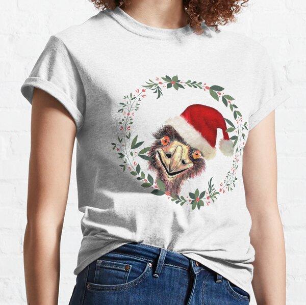 Santa's Emu a Aussie Christmas Classic T-Shirt