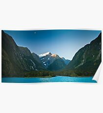 Dusk in Milford Sound Poster
