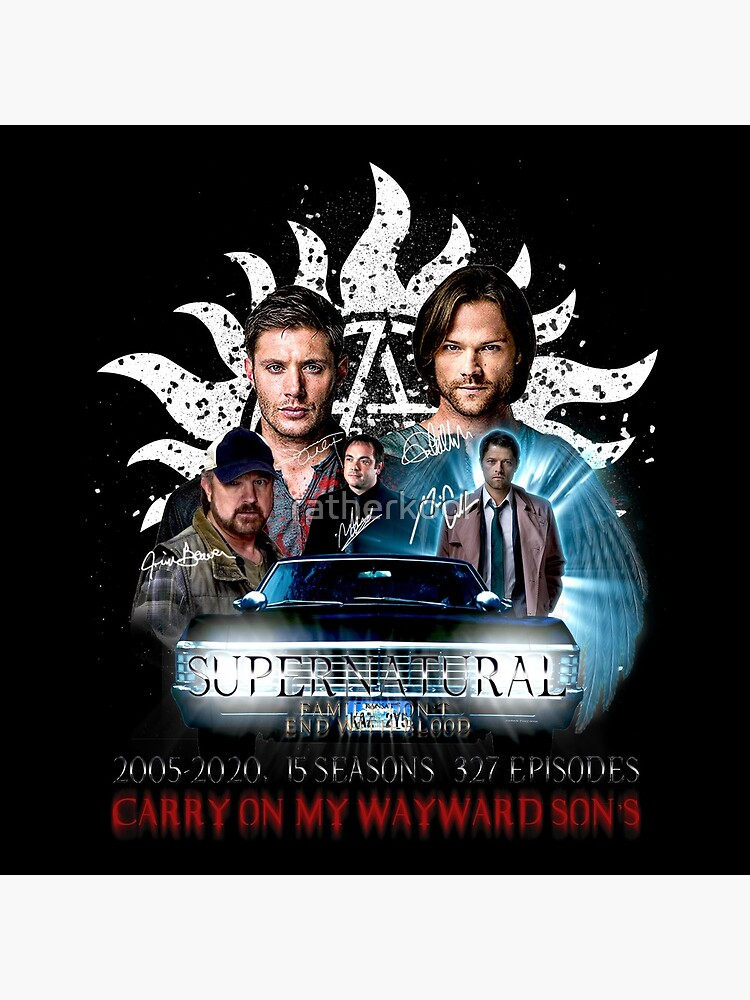 Limited Edition Supernatural Family dont end with Blood 4W Signed by ratherkool