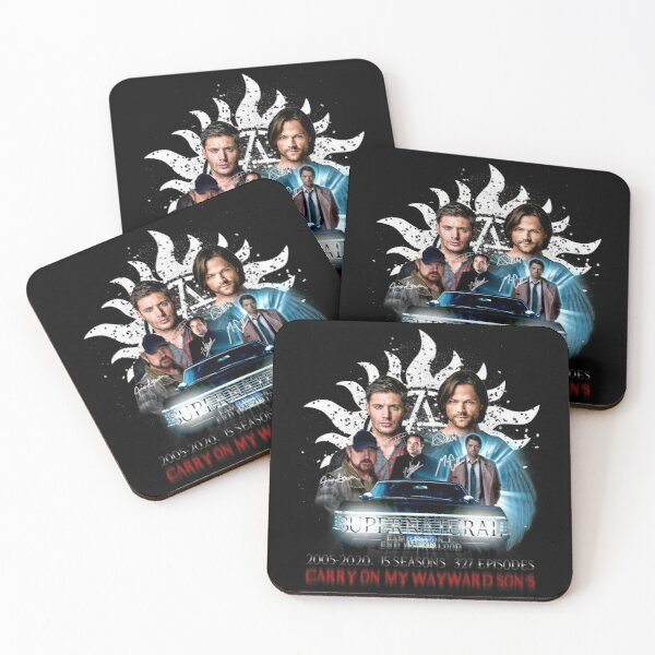 Limited Edition Supernatural Family dont end with Blood 4W Signed Coasters (Set of 4)