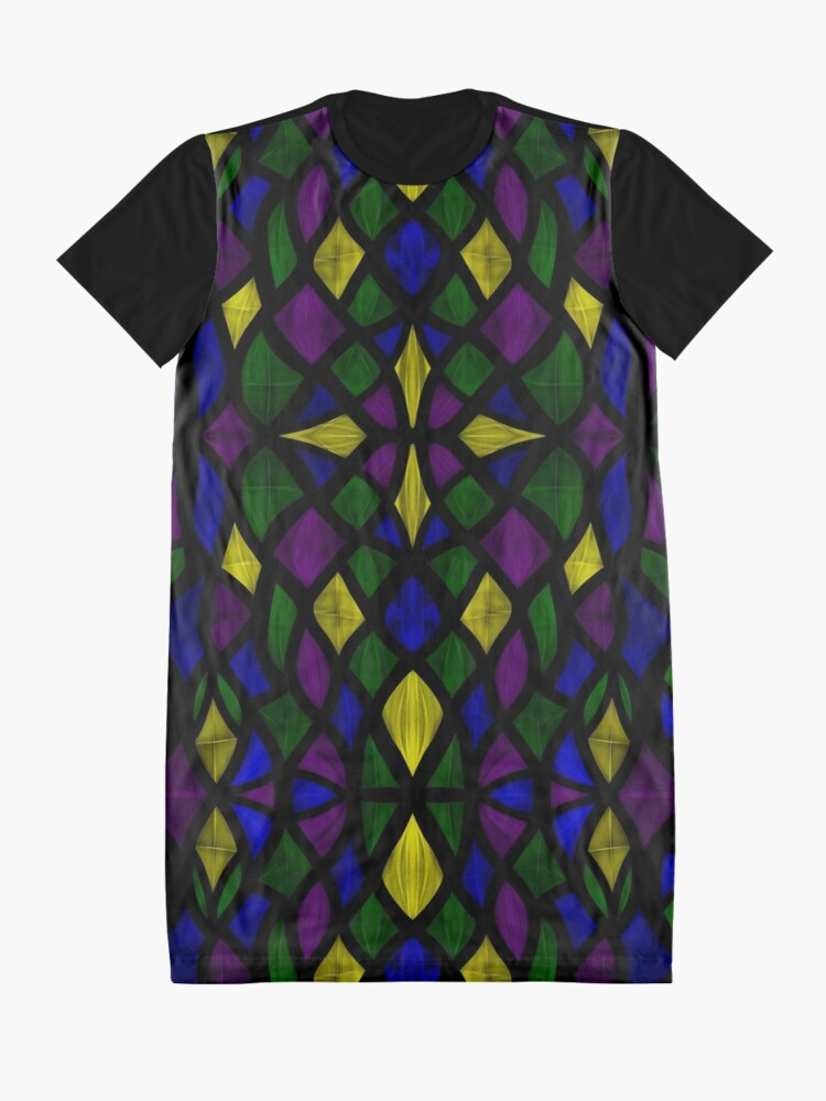 Alternate view of Stained Glass Scales Graphic T-Shirt Dress