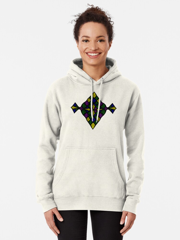 Alternate view of Stained Glass Scales Pullover Hoodie