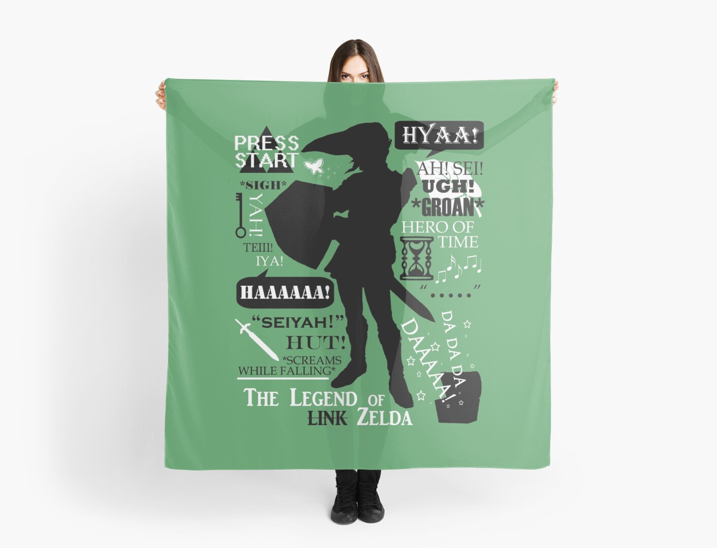 "Zelda Quotes Legend Of Zelda  Link ""quotes"""" Scarvesfantality  Redbubble"