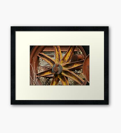 Yellow Iron Framed Print