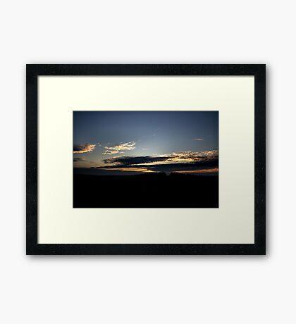 Donny Brook Sunset - Melbourne Framed Print