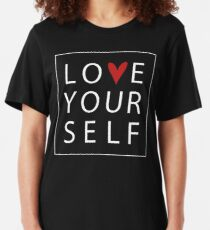 Love Your Self Slim Fit T-Shirt