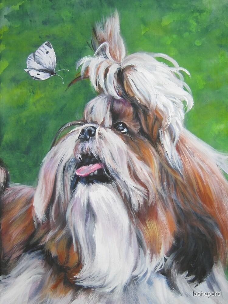 Shih Tzu Fine Art Painting by lashepard