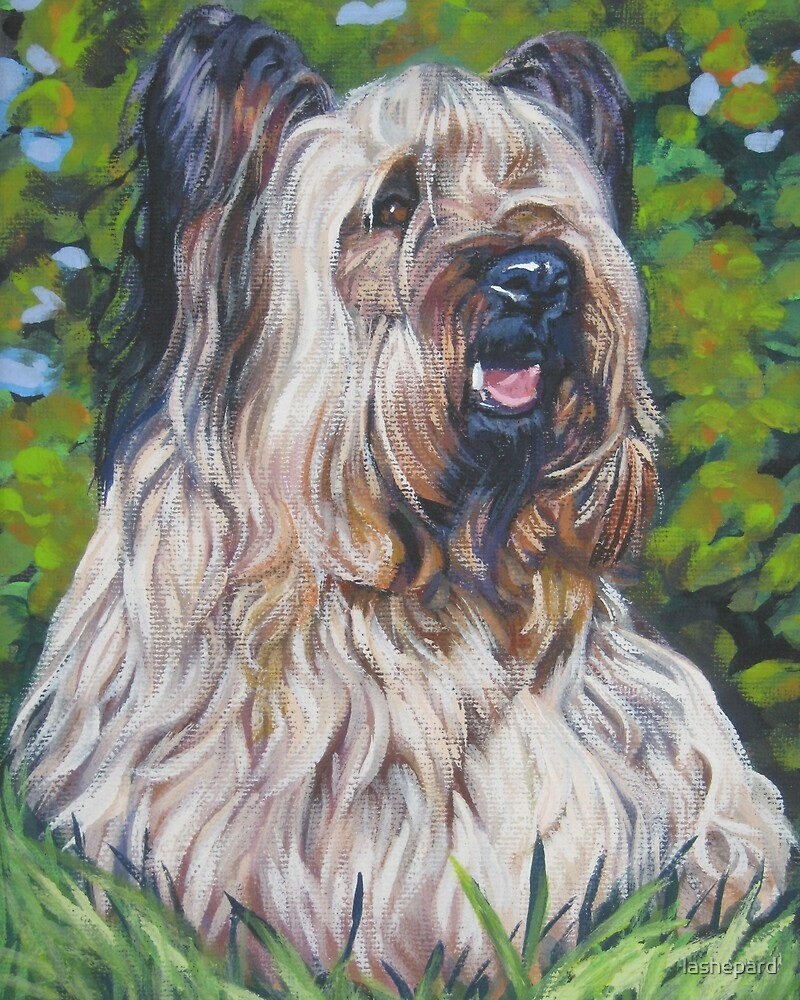 Skye Terrier Fine Art Painting by lashepard