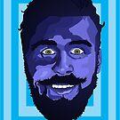 Portrait in Blue - Bubbler Zach Woomer by Jellyscuds