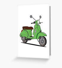Vespa PX Green Greeting Card