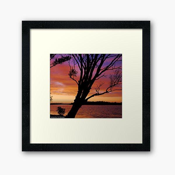 2011 sunset calendar - port macquarie Framed Art Print