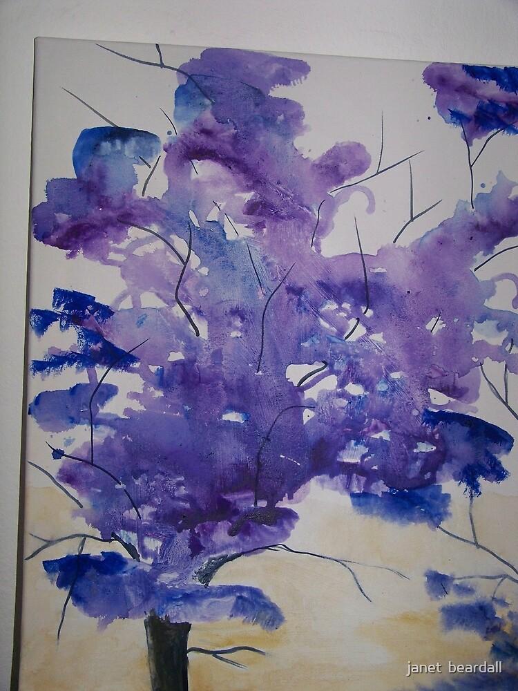 purple trees by janet  beardall