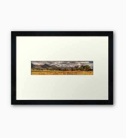 Morning Glory- Capertee Valley, Australia (25 Exposure HDR Panorama)  - The HDR Experience Framed Print