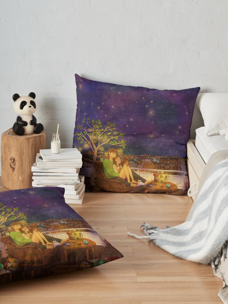 Alternate view of Stargazing Floor Pillow