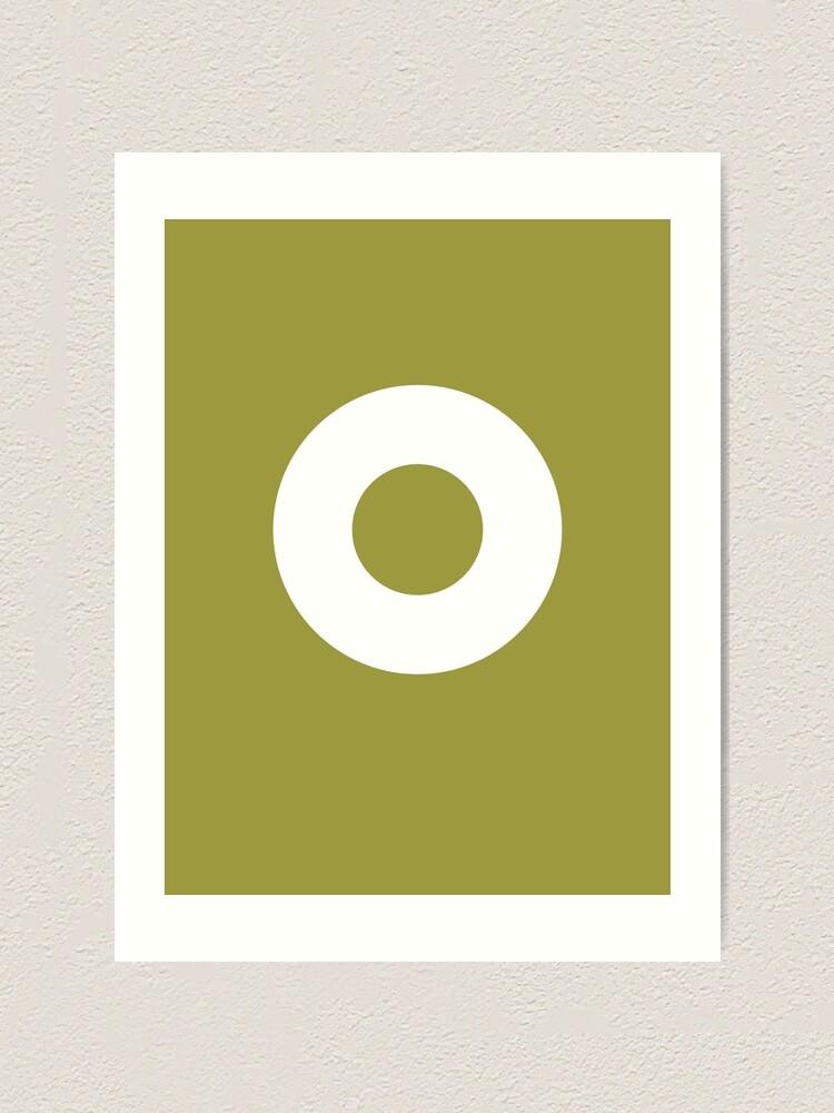 Alternate view of Circle (White Ring) Art Print